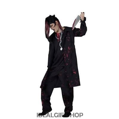 MENS HALLOWEEN HORROR DR DERANGED SCARY GOTH KILLER SURGEON FANCY DRESS COSTUME (Scary Surgeon Costume)