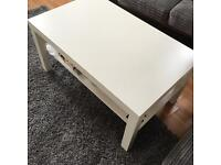 Pure white ikea table with additional bottom collection only salford