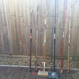 6 Vintage Sea rods by Edgar Sealy & E.T Barton (P&P Option @ £21)