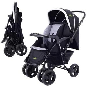 Two Way Foldable Baby Kids Travel Stroller Newborn Infant Pushchair Buggy Black - BRAND NEW - FREE SHIPPING