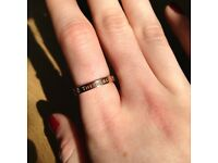 Tiffany & Co. Rose Gold Ring Size K (Has been engraved)