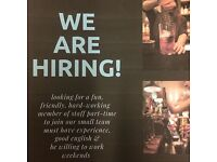 Looking for fun, enthusiastic bar staff