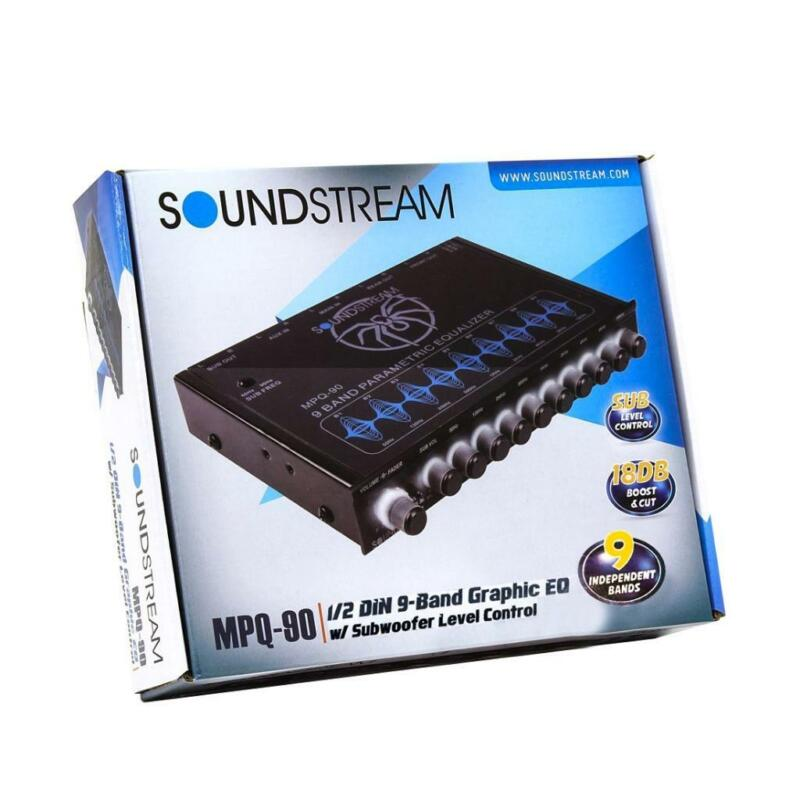 Soundstream MPQ-90 1/2-DIN Car Audio 9-Band Graphic Equalizer Subwoofer Control