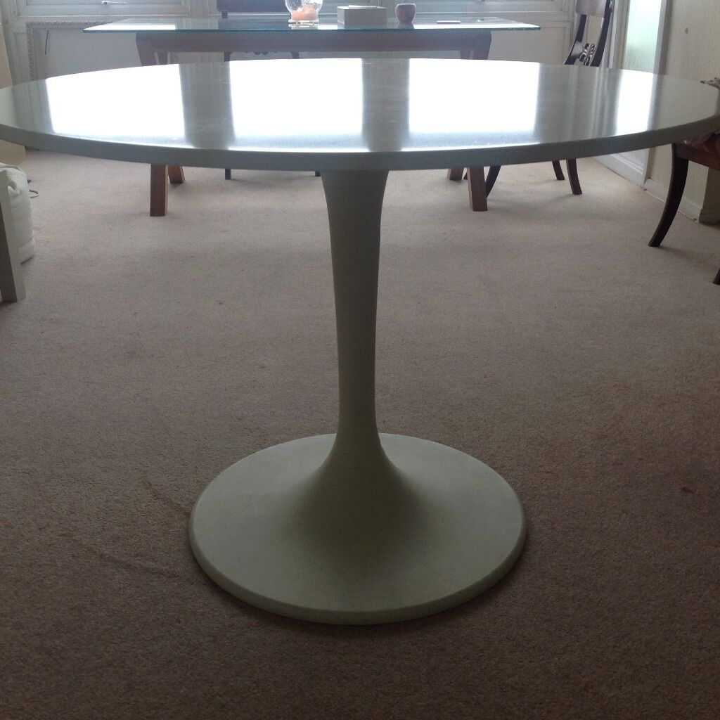 White round dining table ikea docksta in hove east for Docksta dining table