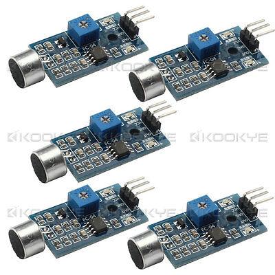 5 Pcs High Sensitivity Sound Microphone Sensor Detection Module For Arduino Avr