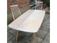 ERCOL Dining Table and Chairs totally restored in Scandinavian style