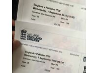 2 X Pakistan Vs England T20 Tickets at Old Trafford Manchester 7 September 2016