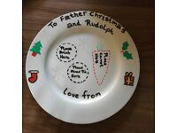 Santa Xmas Eve Plate- Hand painted