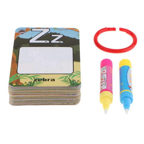 water magic drawing alphabet flash cards educational