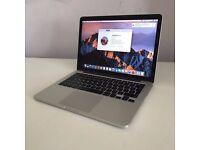 """2015 13"""" Retina Apple Macbook Pro i5 2.7Ghz 8GB 256GB SSD intel 6100 GPU £1449"""