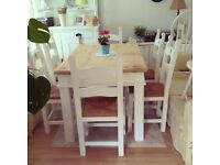 SOLID PINE DINING TABLE 6 CHAIRS FREE DELIVERY