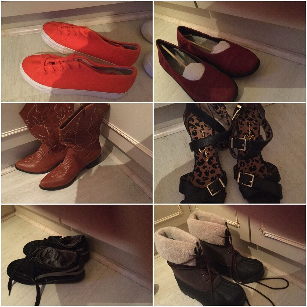 Ladies shoes and boots different makes