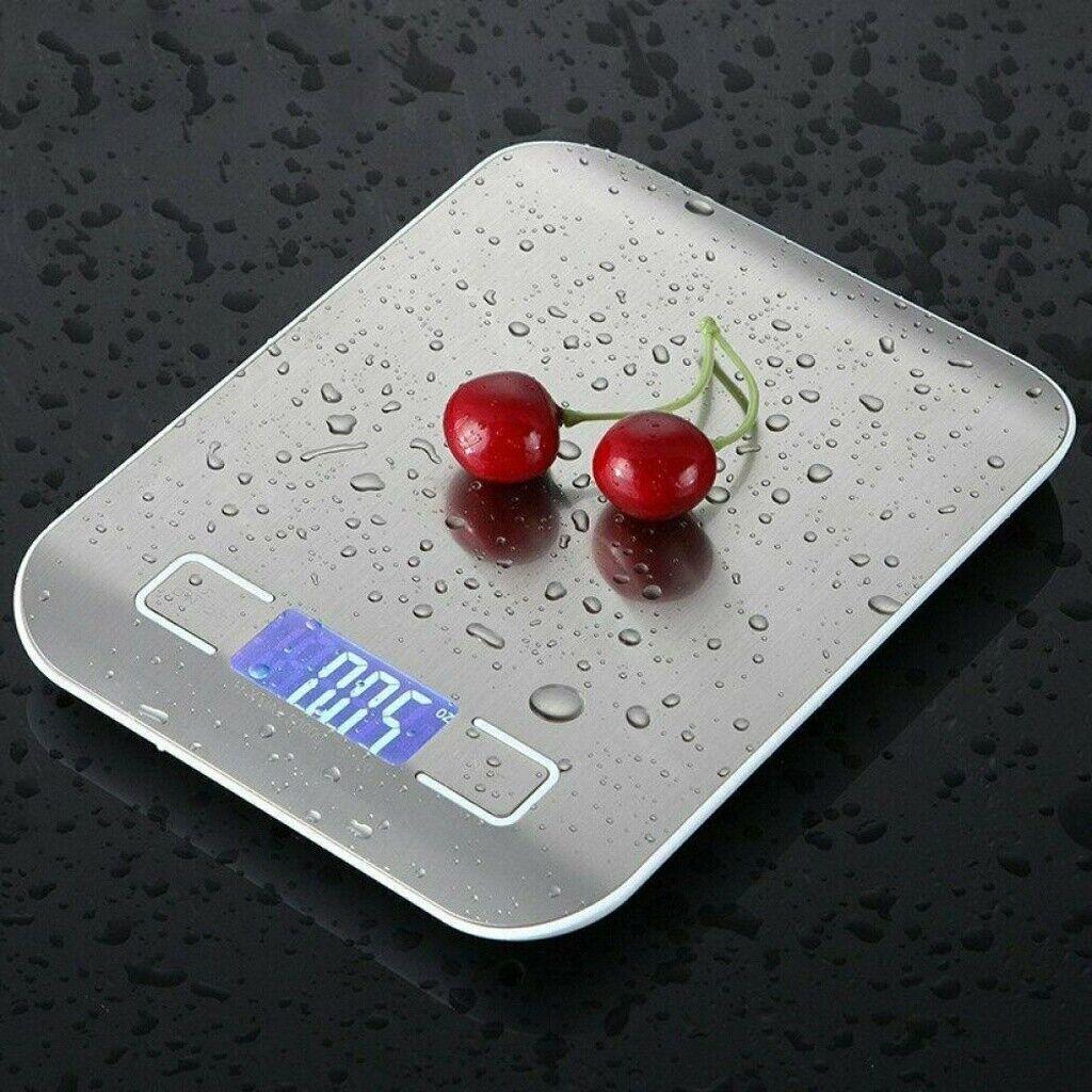 10KG/1g Küchenwaage Digital Edelstahl LCD Electronic Grammwaage Haushaltswaage