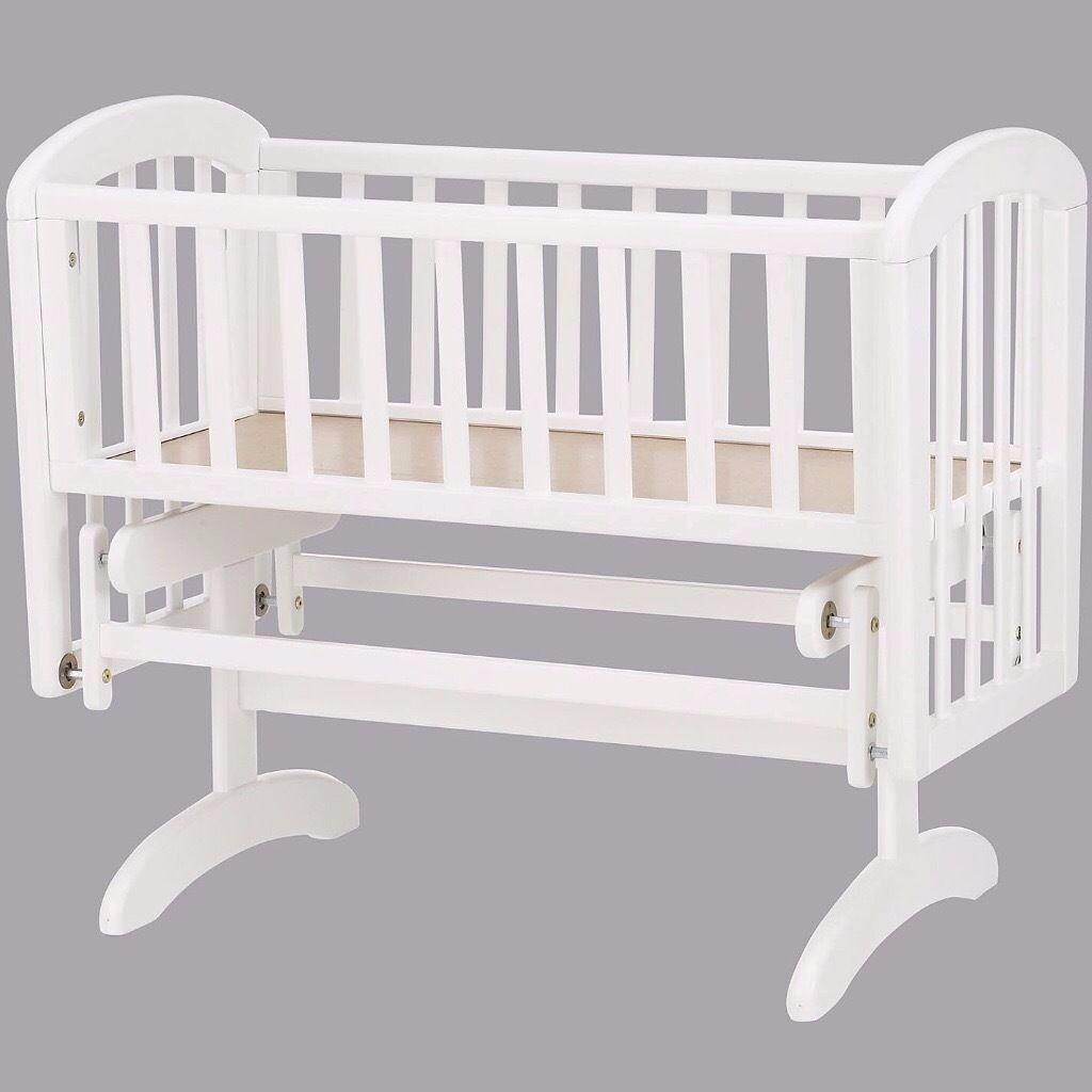 NEW Anna Glider Crib White (RRP£100)
