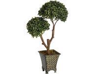 New Artificial Double Ball Plant Metal Pot Planter Tree