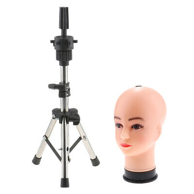 21 Pvc Female Mannequin Head With Tripod Holder Stand For Store Display