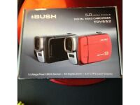 Bush 5.0 mega pixels digital camcorderTDV55Z , red ... Unwanted Christmas gift brand new boxed