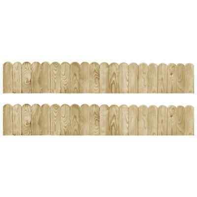 vidaXL 2x Border Rolls 120cm Impregnated Pinewood Garden Patio Lawn Edge Fence