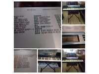 Yamaha 61 key portable electric keyboard with mains adaptor and free stand