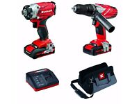 Einhell Power X-Change 18V Cordless Li-Ion Combi Hammer Drill & Impact Driver Twin Pack + WARRANTY!