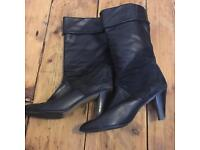 Vintage Leather and Suede Boots - size 8