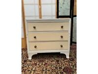 Vintage Wooden 3 Drawers Chest