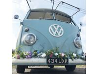 Stunning Wedding Transportation - 1958 VW Camper . Split Screen Camper . Wild Bride . Boho Bride