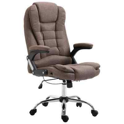 vidaXL Kantoorstoel Polyester Bruin Kantoorstoelen Computerstoel Bureaustoel