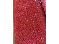 Blue or red carpet remnant
