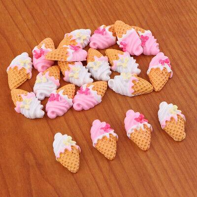 20pcs Summer Ice Cream Resin Flatback Embellishment for DIY Craft Accessory](Crafts For Summer)