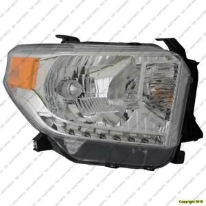Head Lamp Passenger Side Sr/Sr5/Limited Halogen Without Level Adjuster High Quality Toyota Tundra 2014-2017