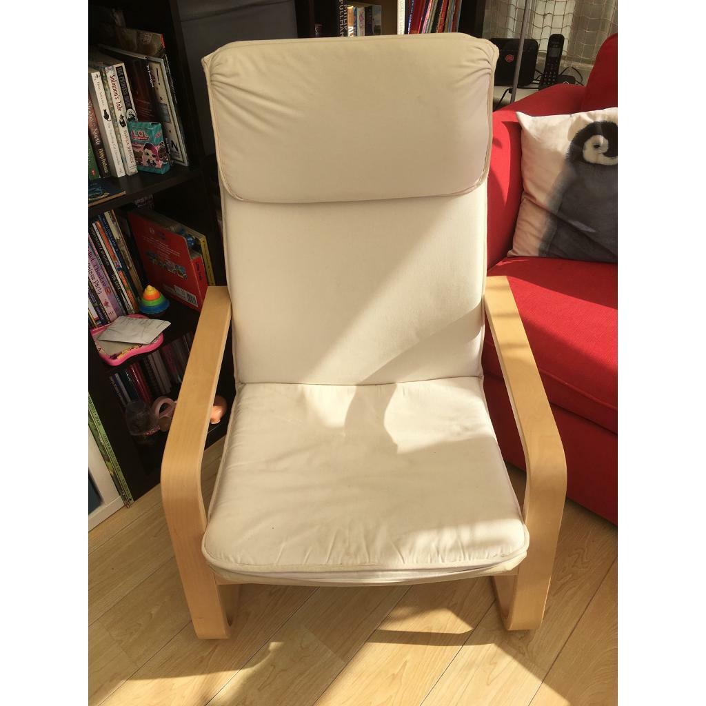 Strange Ikea Poang Chair Cream In Durham County Durham Gumtree Ibusinesslaw Wood Chair Design Ideas Ibusinesslaworg