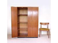 Vintage/Industrial SCHOOL LAB CUPBOARD with BIFOLD DOORS Kitchen Cabinet / Wardrobe / Storage 1960s