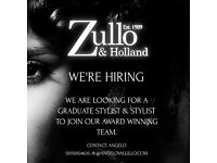 Looking for hairdressers at all levels must have nvq level 3 and up-to 4 years experience