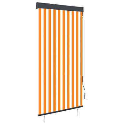 vidaXL Outdoor Vertical Roller Blind 100cm White and Orange Shade Screens