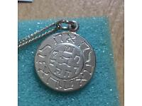The 7 Archangels Talisman Amulet Pendant .925 Silver Sigil With Chain & Box