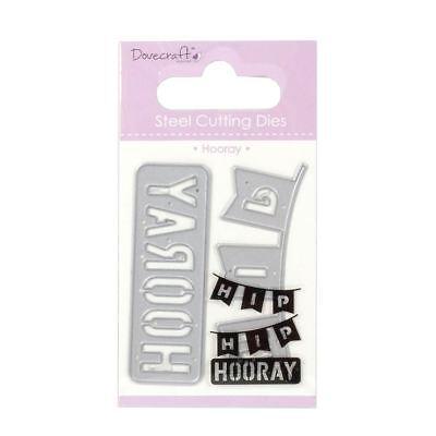 Trimcraft Dovecraft Mini Metal Paper Card Craft Die Set - Hip Hip Hooray