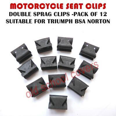MOTORCYCLE SEAT CLIPS SPRAG TYPE DOUBLE 12 PACK TRIUMPH BSA NORTON
