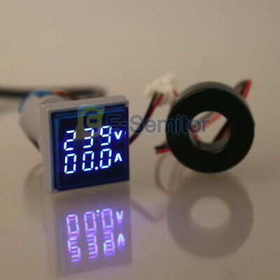 Digital Dual Led Voltmeter Ammeter Ac60-500v 0-100a Voltage Gauge Volt Amp Meter