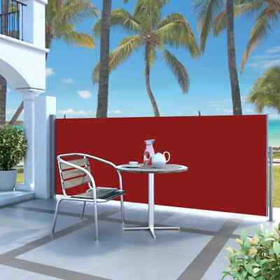 vidaXL Retractable Side Awning 140x300cm Red Garden Privacy Sun Screen Blind