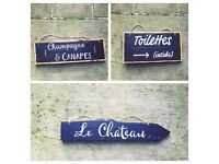 Wedding signs: wood, hand made, vintage, country, rustic. Can be sold as seen or made blank.