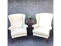 PAIR PARKER KNOLL ARMCHAIRS FREE DELIVERY 🇬🇧WING BACK ENGLISH ARMCHAIR
