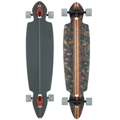 "GLOBE HG Pinner Drop Through Skateboard, 41"", Brown/Leaves"