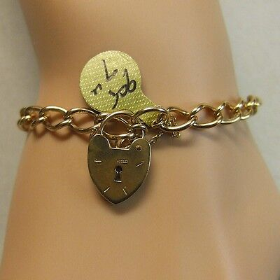 9ct gold second hand solid charm bracelet