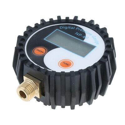 Digital Lcd Gas Pressure Gauge Manometer 0-200psi For Car Truck Motorbike