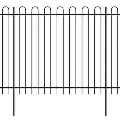 Ornamental Security Palisade Fence Steel Hoop Top 600x175 cm S4W1