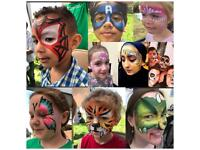 FACE PAINTING / FACEPAINTER children / adult glitter parties / selfie station