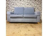 Two Seater Light Blue Sofa/Sofabed