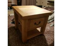 Chunky Solid oak wood drawer unit side table