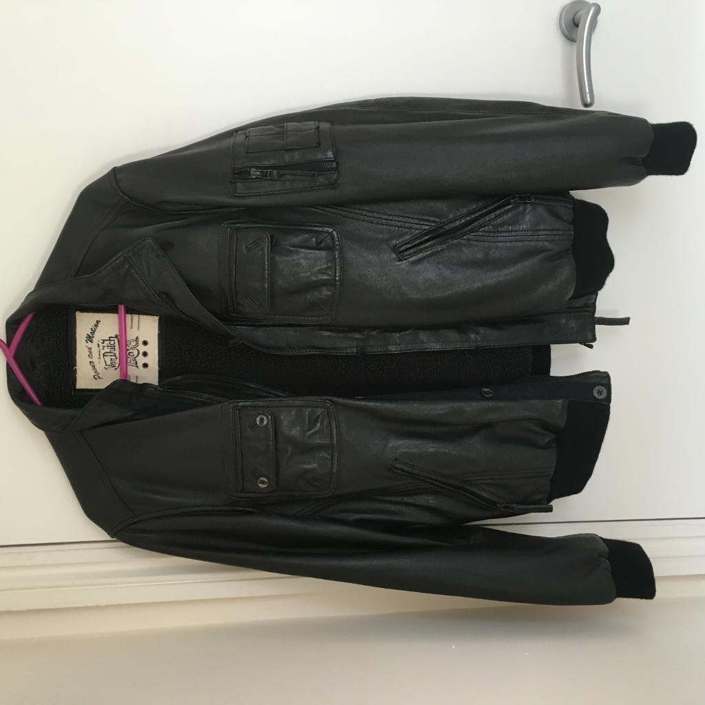 Leather jacket italy - Leather Jacket Size M Von Dutch Made In Italy